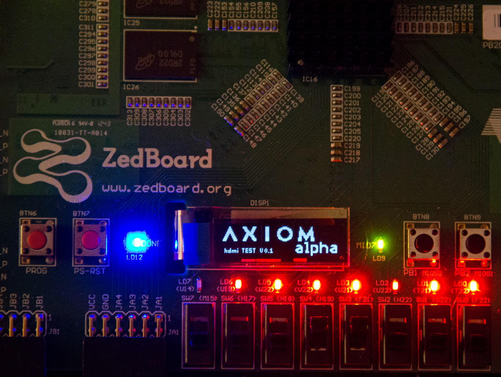 Axiom Alpha prototype HDMI Tests
